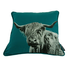 Load image into Gallery viewer, Shaggy Highland Cow Cushion
