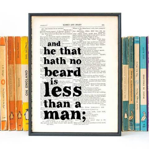 He That Hath No Beard - book page print