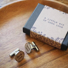 Load image into Gallery viewer, 'Touch Wood' cufflinks