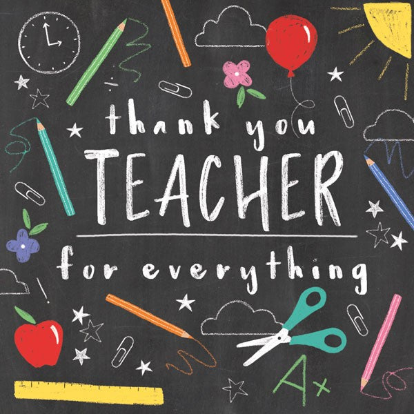 Thank You Teacher (larger card)