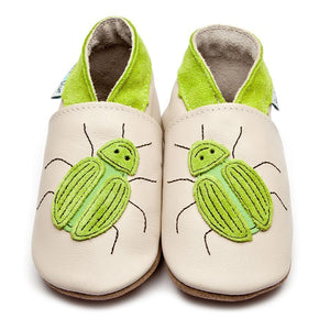 Inch Blue Shoes - Beetle green