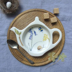 Bee and Bluebell Teabag Tidy