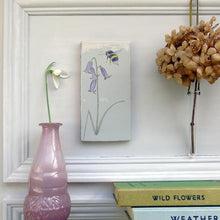 Load image into Gallery viewer, Bluebell and Bee ceramic wall art
