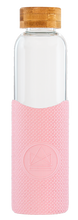 Load image into Gallery viewer, Reusable Glass Bottle 550ml Pink