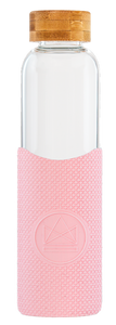 Reusable Glass Bottle 550ml Pink