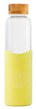 Load image into Gallery viewer, Reusable Glass Bottle 550ml Yellow - Sun is Shining
