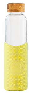 Reusable Glass Bottle 550ml Yellow - Sun is Shining
