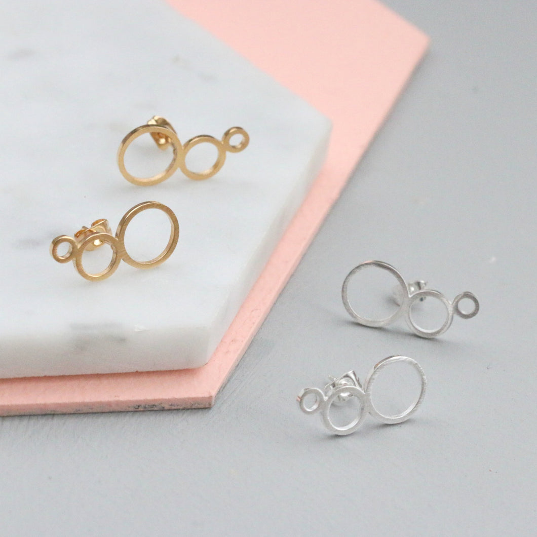 Bubble Ear Climber Studs