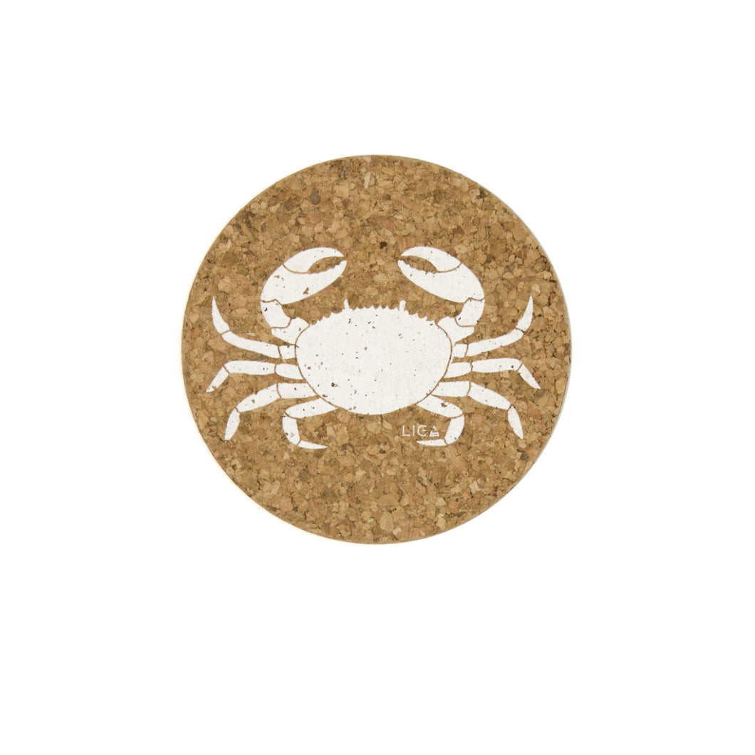 Crab cork coasters