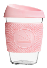 Load image into Gallery viewer, Reusable Glass Cup 12oz Pink