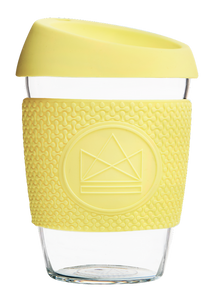 Reusable Glass Cup 12oz Yellow - Sun is Shining