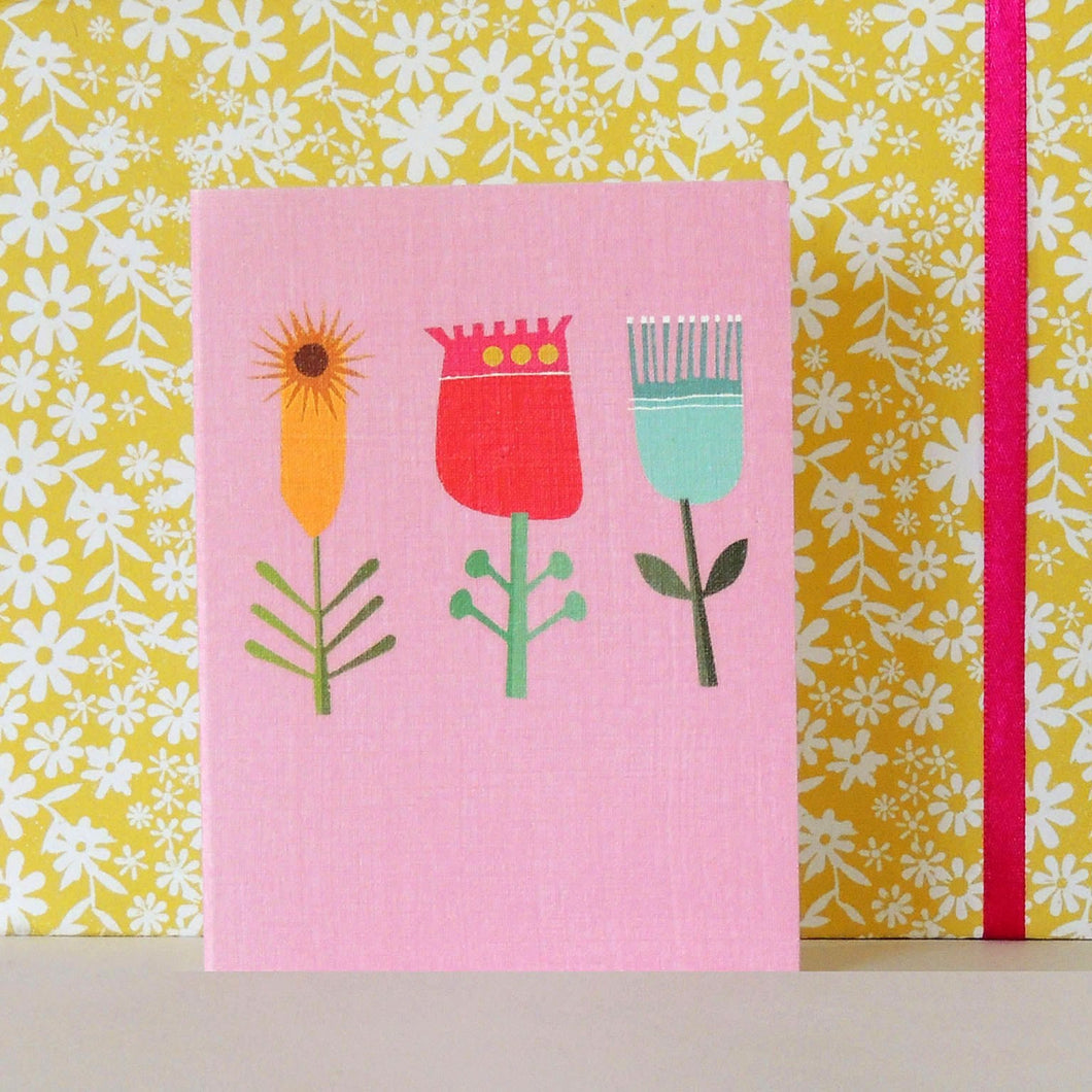 Three Flowers mini card