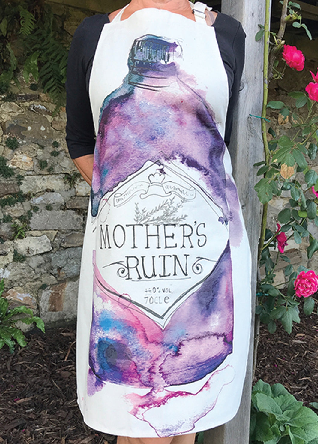 Mother's Ruin gin apron