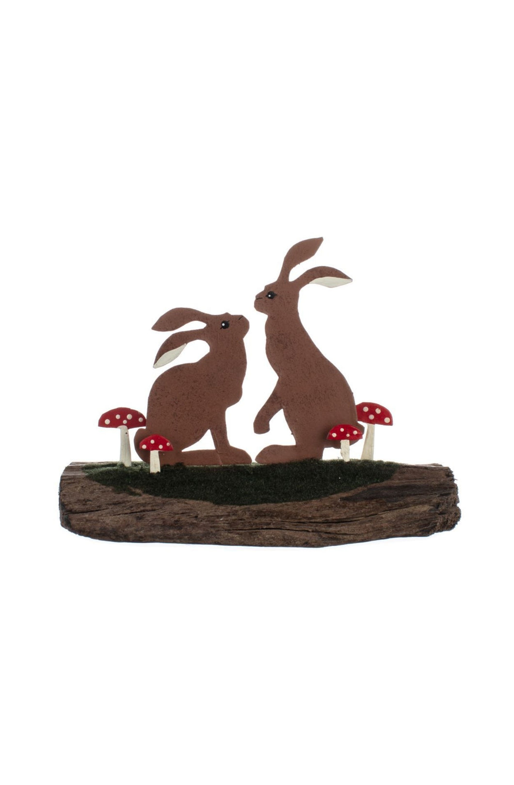 Hares on Driftwood Christmas Decoration
