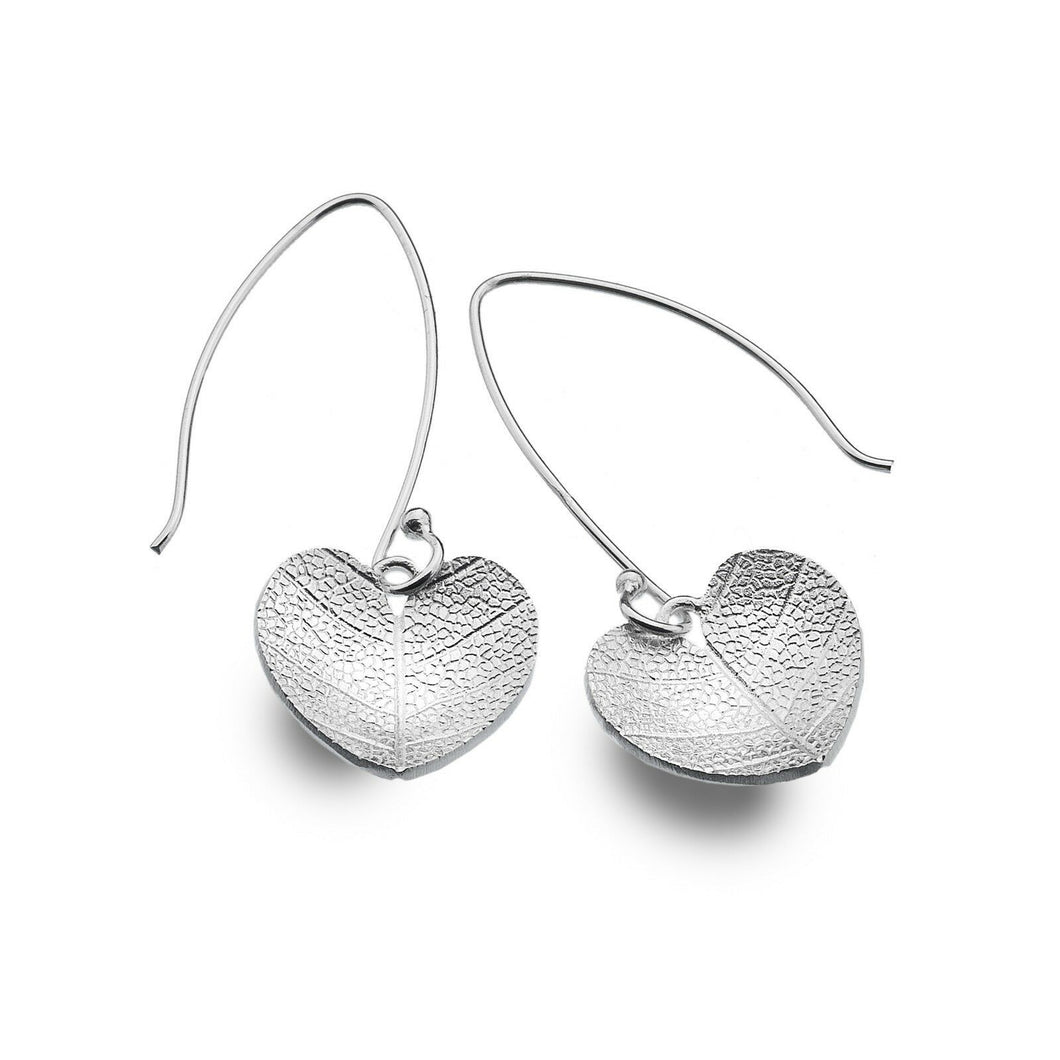 Leaf Heart Drop Earrings