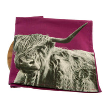 Load image into Gallery viewer, Highland Cow Tea Towel