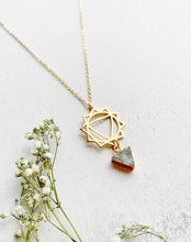 Load image into Gallery viewer, Mandala Druzy Triangle Necklace