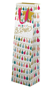Merry and Bright bottle gift bag