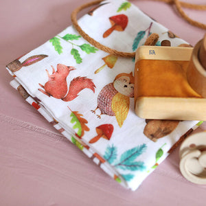 Woodland Muslin Square