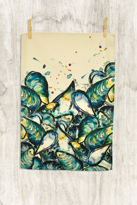 Mussels Tea Towel