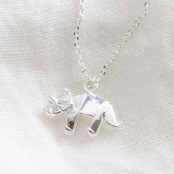 Silver Triceratops Necklace