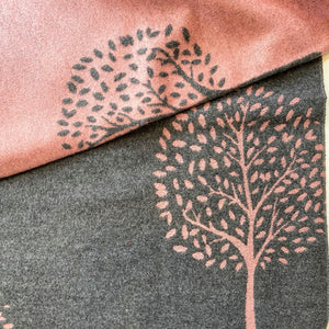 Mulberry Trees Scarf - pale pink and grey