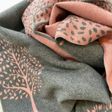 Load image into Gallery viewer, Mulberry Trees Scarf - pale pink and grey