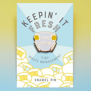 Poo Crew enamel pin badge