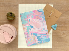 Load image into Gallery viewer, Primrose - A5 marbled notebook