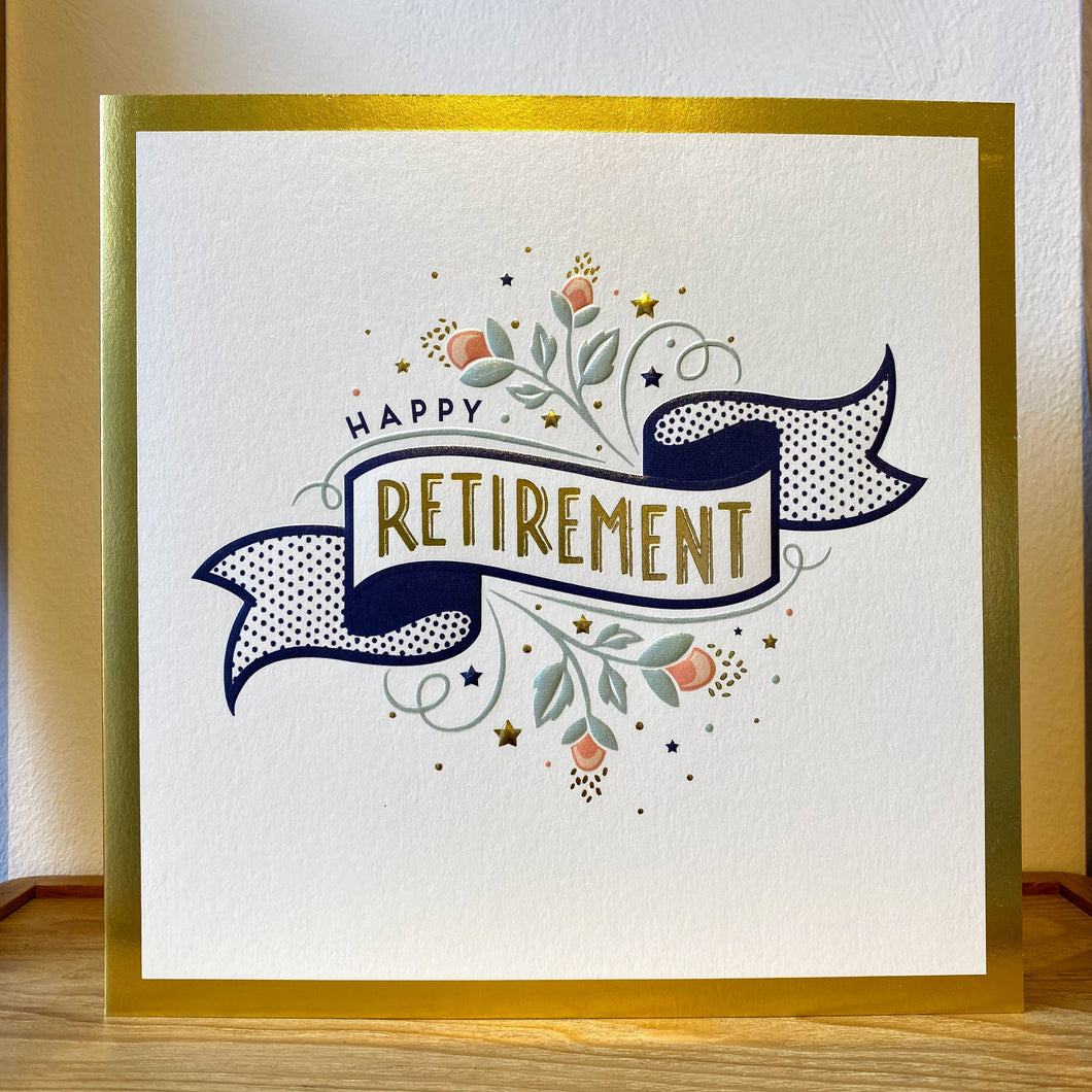 Happy Retirement - large card