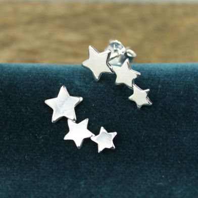 Sterling silver shooting stars earrings
