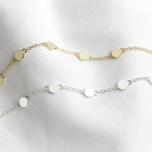 Load image into Gallery viewer, Gold or silver dots necklace