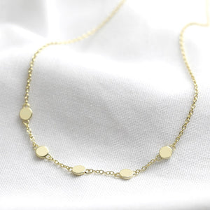Gold or silver dots necklace