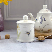 Load image into Gallery viewer, Bee and Spring Flower China Sugar Pot