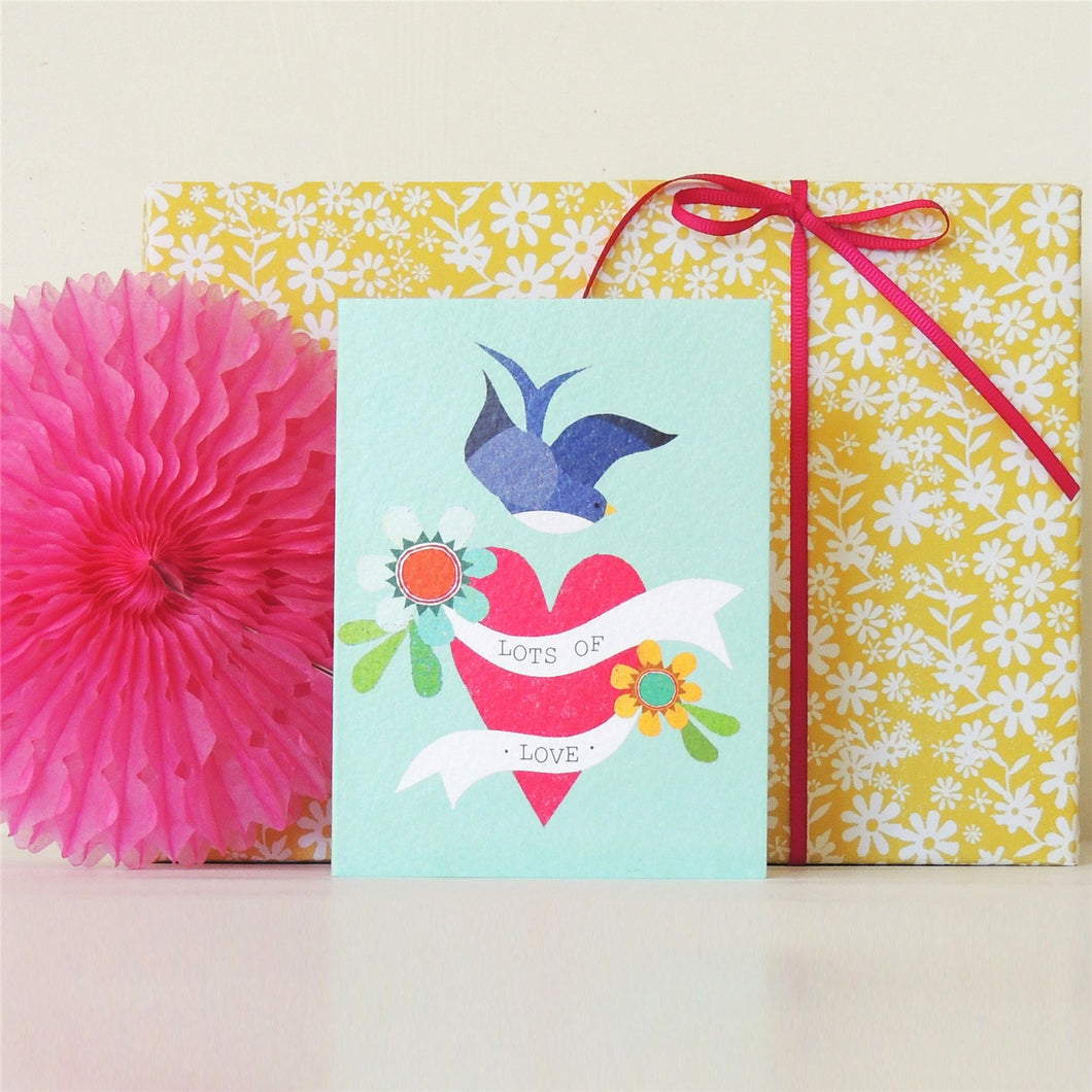 Swallow Heart mini card