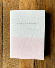 "Load image into Gallery viewer, ""Things I Must Remember"" Pink A6 Notebook"
