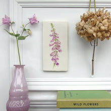 Load image into Gallery viewer, Foxglove ceramic wall art