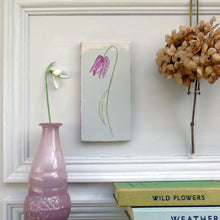 Load image into Gallery viewer, Snakeshead Fritillary ceramic wall art