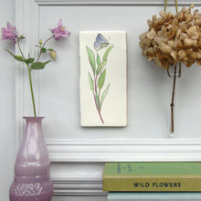 Load image into Gallery viewer, Sage and Butterfly ceramic wall art