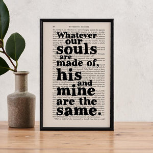 Whatever Our Souls Are Made Of - book page print