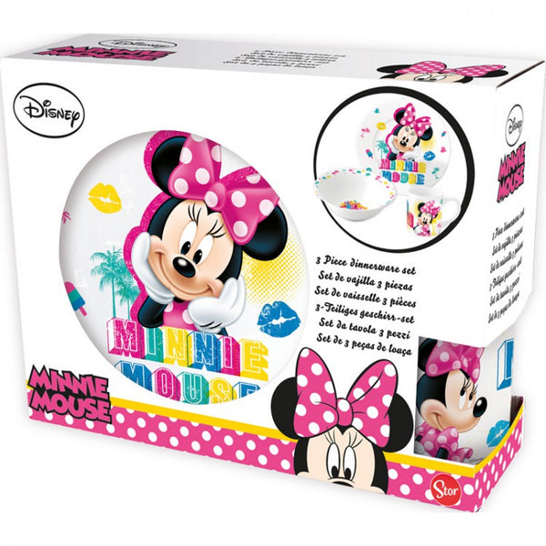 Disney Minnie Mouse 3 dele Spisesæt