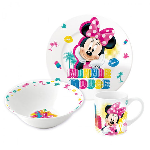 Disney Minnie Mouse 3 piece dinner set