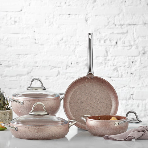 Karaca Avanos Rose Gold 7 pcs pot set