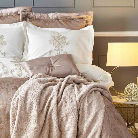 Karaca Home Mihrimah Rose Gold King 11 parts Double bed set
