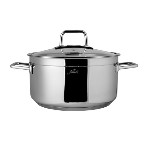 Jumbo Modena 20 cm deep pot in stainless steel