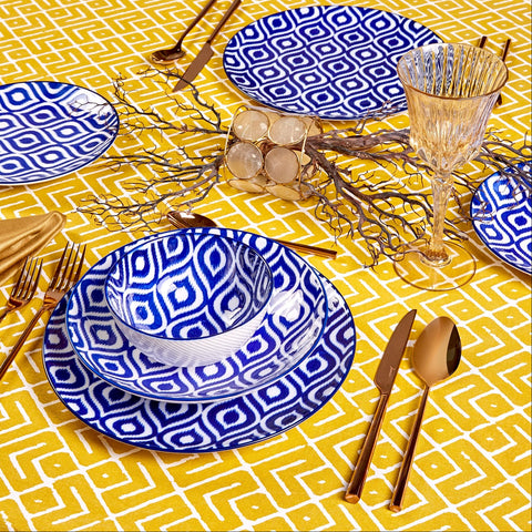 Jumbo Ikat 4 person 16 pieces dinner set