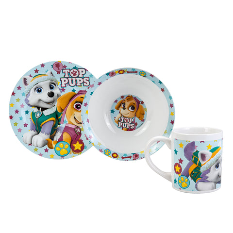 Paw Patrol Girl 3 piece dinner set