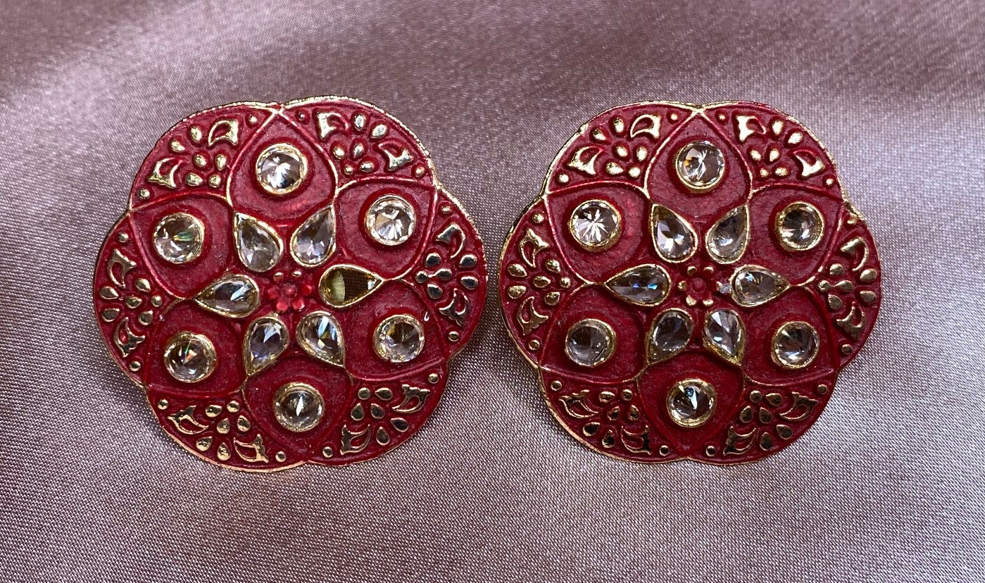 Rathi studs (Rust Red)
