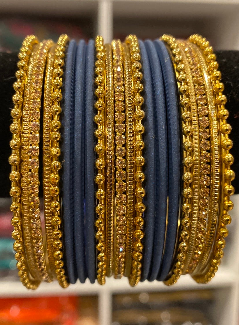 Rust Navy Blue bangles