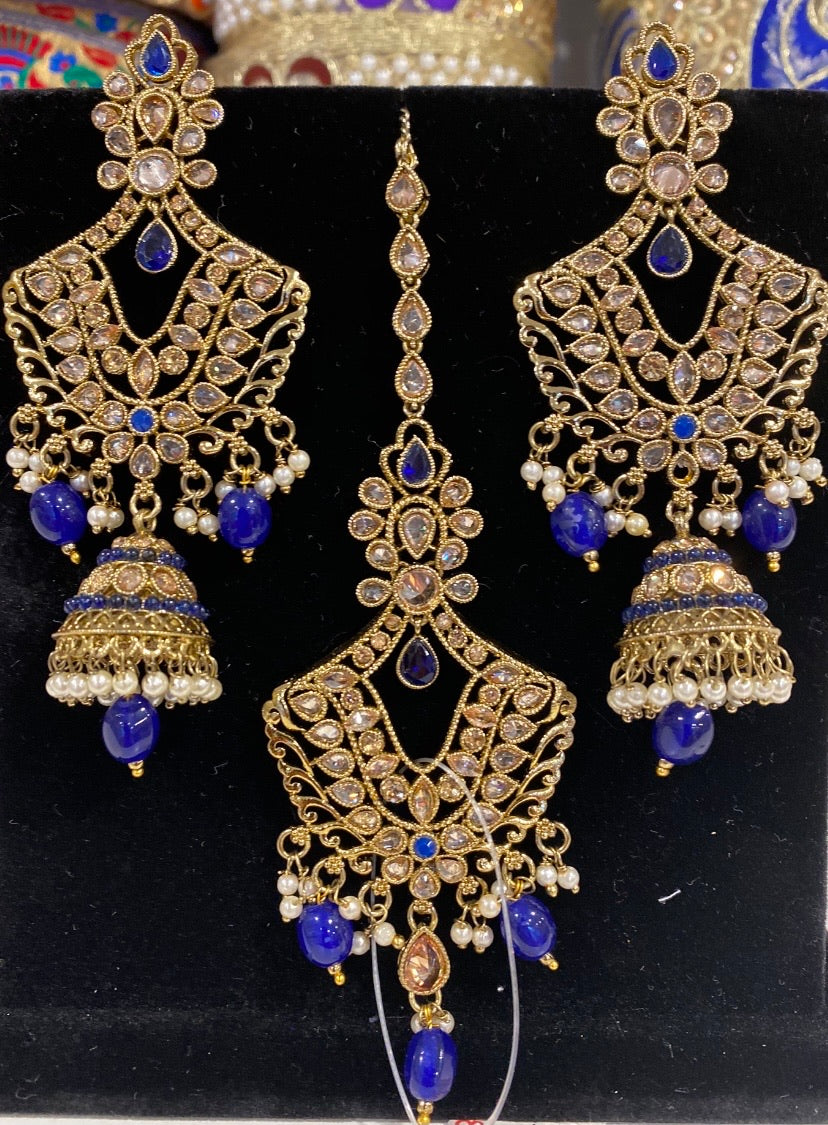 Isha Tikka Set (blue)
